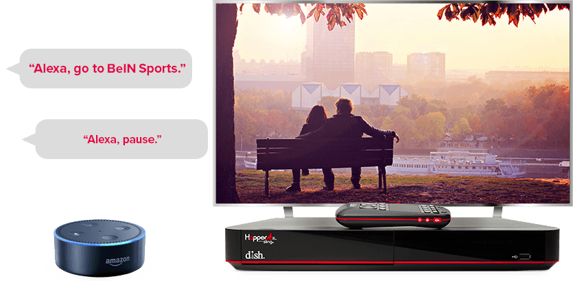 TV manos libres de DISH - Controla tu TV con Alexa de Amazon - Chicago, IL - HD SATELLITE ENTERPRISE INC. - Distribuidor autorizado de DISH
